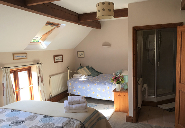 Barn Owl Cottage Family room en suite