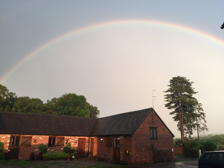 rainbow dusk